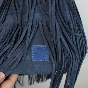 Brave Bags - Brave Kipper Cyan Suede Fringed Bucket Bag